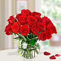 15 Red Roses Arrangement: Send Anniversary Gifts To Saudi Arabia