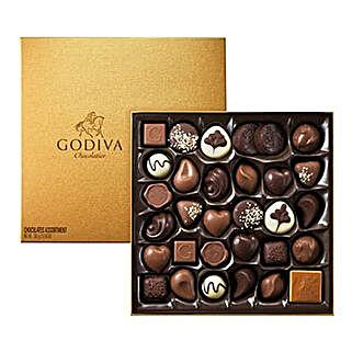 Chocolate Box By Godiva 34: Send Birthday Gifts to Saudi Arabia