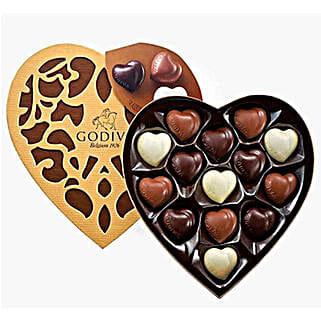 Heart Shaped Godiva Chocolates: Birthday Gifts to Saudi Arabia