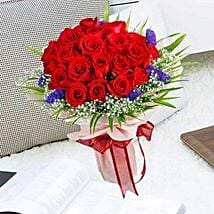 21 Red Rose Bouquet: Anniversary Flowers to Singapore