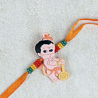 Adorable Balla Hanuman Rakhi: Send Rakhi for Kids to Singapore