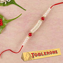 Fancy Rakhi And Toblerone Special Combo: All Rakhi Singapore