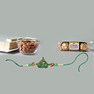 Om Rakhi And Lavish Treat For Brother: Rakhi with Chocolates to Singapore
