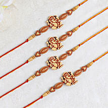 Set Of 4 Elegant Rakhi: Rakhi to Singapore