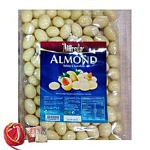 Yummy Almonds White Chocolates: Bhai Dooj Gift Delivery in Singapore