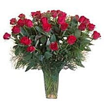 15 Red Roses in Glass Vase SA: Gift Delivery in South Africa