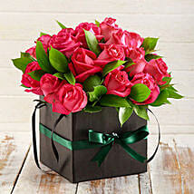 Cerise Roses in a Box: Anniversary Flower Delivery in South Africa