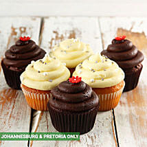 Chocolate and Vanilla Cupcake Combo: Christmas Cake Delivery in South Africa