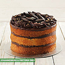 Chocolate and Vanilla Naked Cake 20cm: Christmas Cakes to South Africa