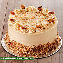 Coffee and Pecan Nut Cake with Coffee Icing 20cm: Friendship Day Gifts to South Africa