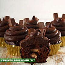 Decadent Kit Kat Filled Cupcakes: Birthday Cakes to South Africa