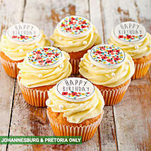 Happy Birthday Cupcakes for Her: New Year Cake Delivery in South Africa
