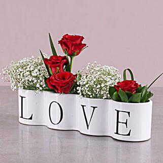 Love Red Rose Arrangement: Rakhi Delivery in South Africa