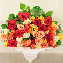 Mixed Roses in Cellophane: Gift Delivery in South Africa