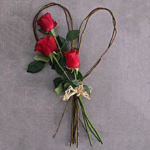 Small Red Rose Willow Heart: Romantic Gifts to South Africa