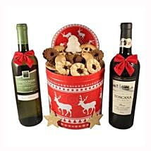 Christmas Unlimited Cookies Gift Basket: Send Gifts to Spain