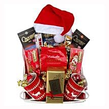 Santa Christmas Tea Basket: Corporate Hampers to Spain