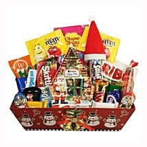 Christmas Retro Sweet Gift Basket: Send Gifts to Sweden