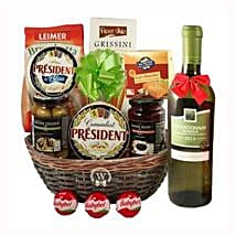 Season Greeting with White Wine: Gift Delivery in Sweden