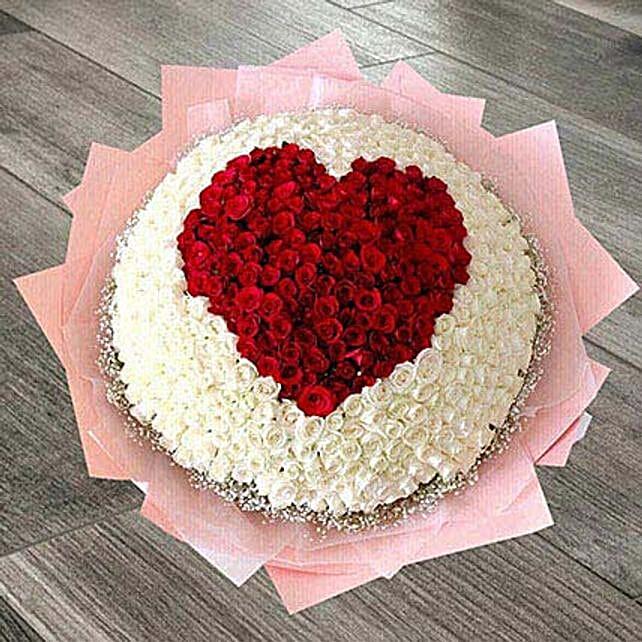 400 Heart Roses Arrangement