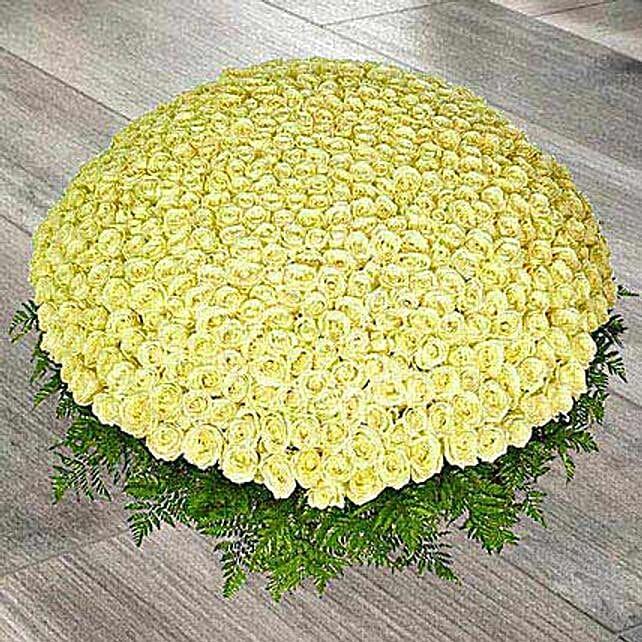 500 White Roses Arrangement