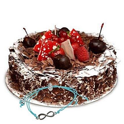 Blackforest Cake with Friendship Band