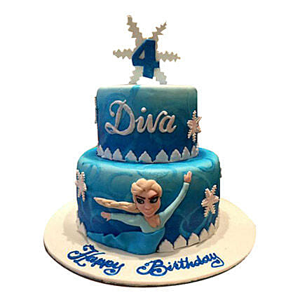 Elsa in Frozen Cake