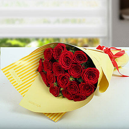 Eternal Love Bunch Of Red Roses