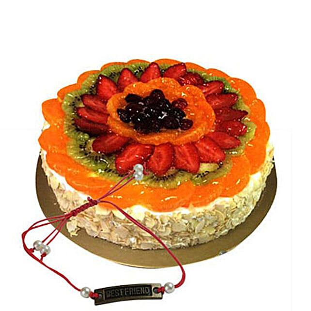 Fruit Cake with Rakhi 1