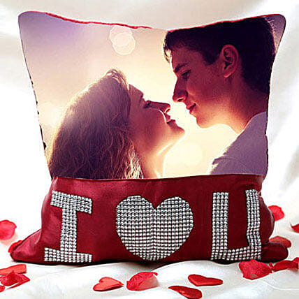 I Love You Personalized Cushion