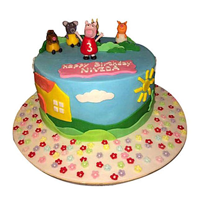 Piggy N Family Cake