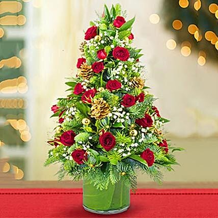 Shimmering Christmas Flower Tree