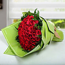 100 Red Roses Bunch: Valentine's Day Flower Delivery in UAE