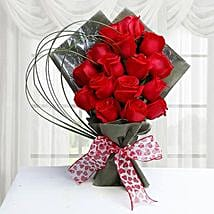 15 Red Roses Bunch: Valentine's Day Flowers to UAE