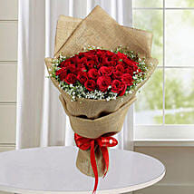 50 Red Roses Bunch: Valentine Flower Bouquets to UAE