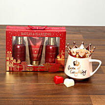 Baylis and Harding Grooming Set With Queen Rose Gold Mug: New Arrival Gifts to UAE