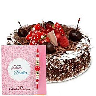 Blackforest Cake with Rakhi: Rakhi Delivery in Sharjah