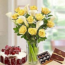 Blissful Combo: Birthday Flowers and Cakes to UAE