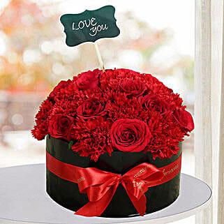 Blushing Flower Arrangement: Valentine's Day Flowers to UAE