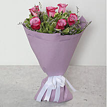 Bouquet Of Purple Roses: Send Flowers to UAE