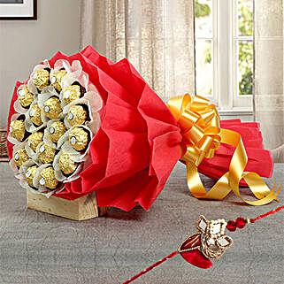 Chocolate bouquet with Rakhi: Send Rakhi to UAE