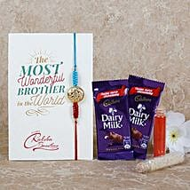 Dairy Milk Special Rakhi Combo: Send Rakhi to Sharjah