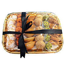 Deluxe Sweet N Savory Tray: Send Diwali Sweets to Dubai