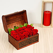 Elegant Box Of 15 Red Roses: Send Anniversary Gifts to UAE