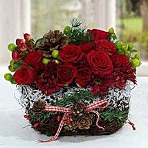 Exotic Christmas Flower Arrangement: Christmas Gift Delivery in UAE