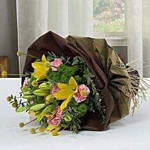Exotic Flower Bouquet With Paper Packing: Carnations to UAE