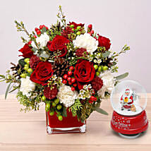 Flower Arrangement With Santa Masterpiece: Christmas Gifts to UAE