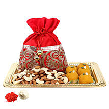 Golden Tray with Delicious Bites: Send Sweets to UAE