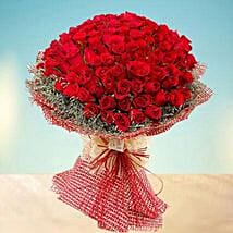 Grand 100 Red Roses: Valentine Flowers for Wife to UAE