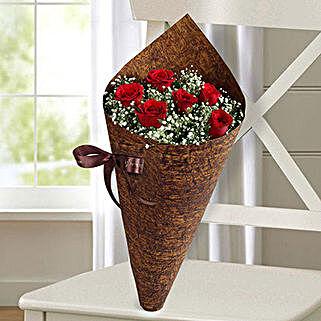 Half Dozen Roses Bunch: Valentine's Day Flower Delivery in UAE